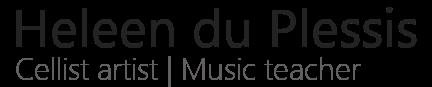 Heleen du Plessis | Cellist Logo